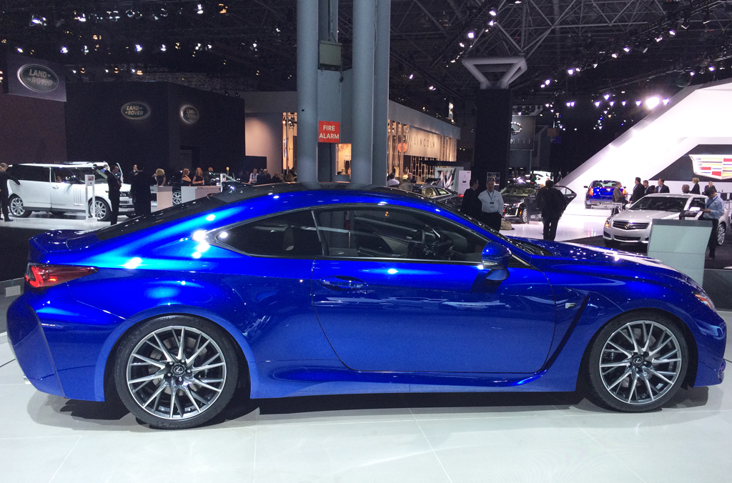 2014, lexus, rc f, coupe, new york auto show