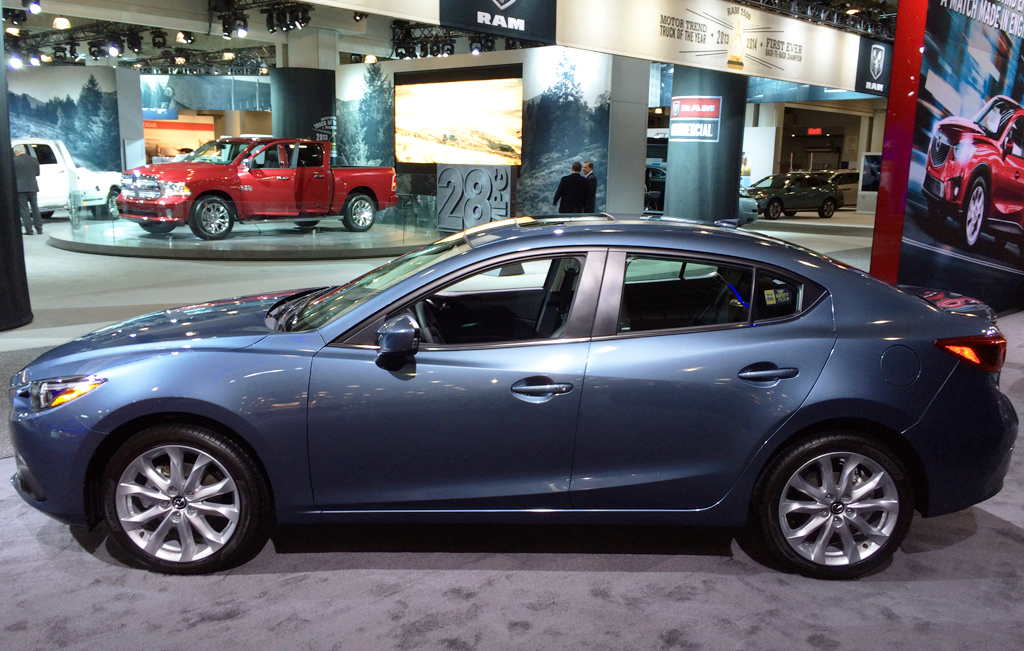 2015 Mazda 3 sedan at the 2014 New York Auto Show ...