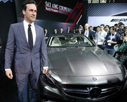 Jon Hamm, New York auto show, Mercedes