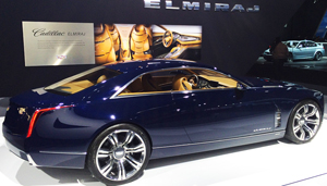 Cadillac's Elmiraj large hardtop coupe concept is on display all week at the New York Auto Show.