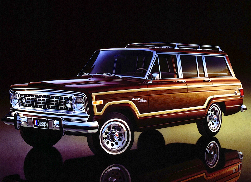 "A new Wagoneer ""Limited"" luxury model was introduced midway through the 1978 model year.  With the return of wider wood sections, it was priced 40 percent higher than the main Wagoneer model."