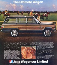 The 1981 Wagoneer line was expanded to include three levels: Custom, Brougham, and Limited (shown).  Custom and Brougham models featured less wood, if any, while the Limited maintained its status quo.