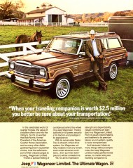 1983 Wagoneer Limited ad.