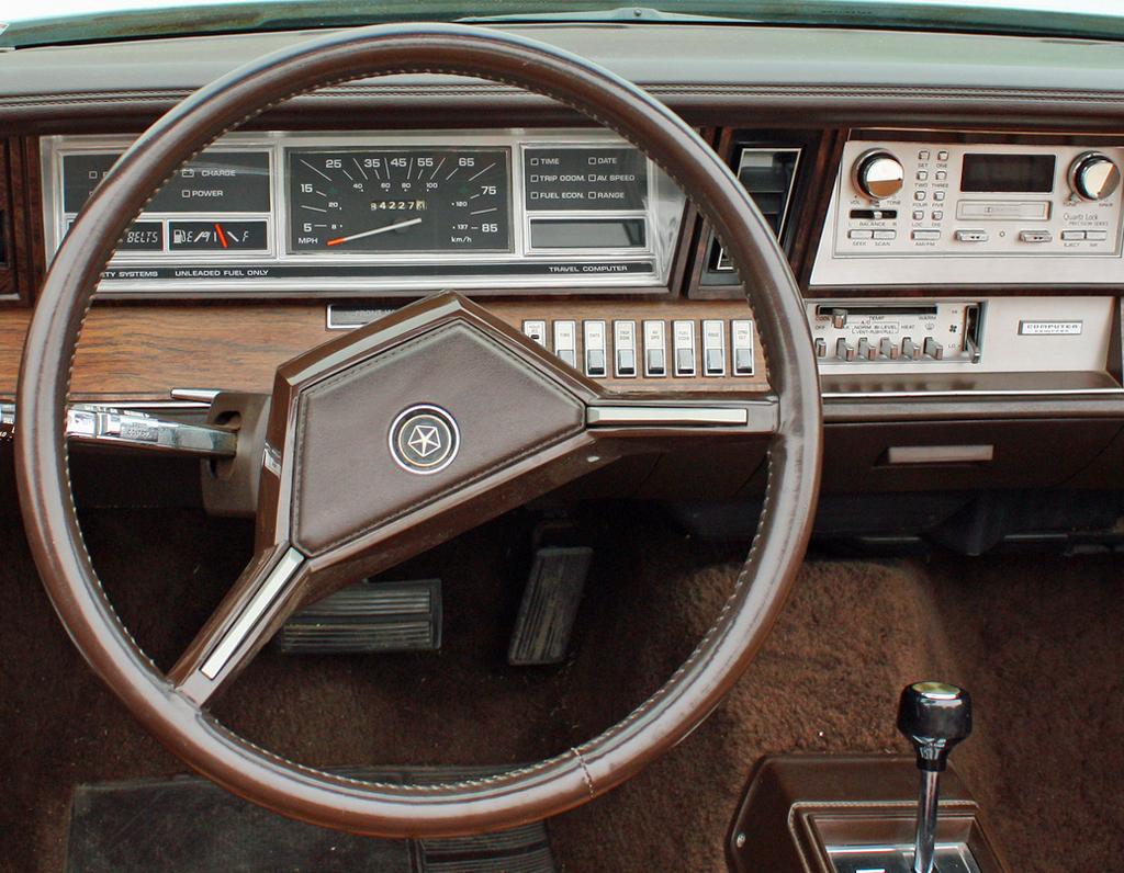 1982-83 Chrysler Town & Country convertible instrument ... 1986 Chrysler Lebaron Town And Country