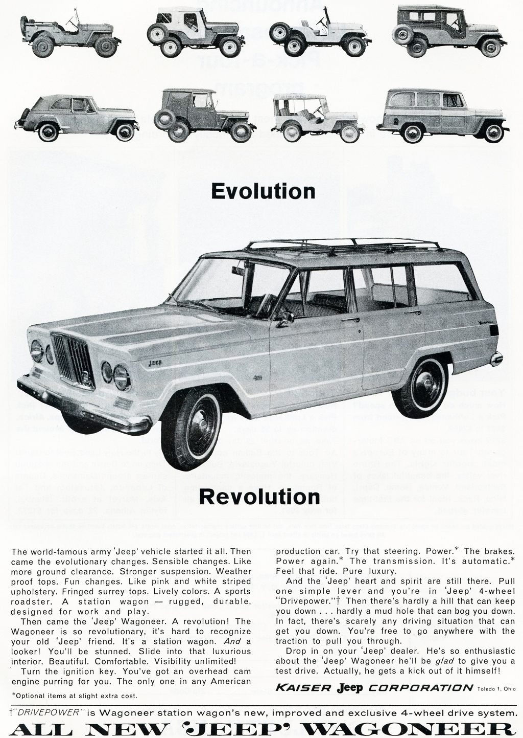 1963 Jeep Wagoneer advertisement