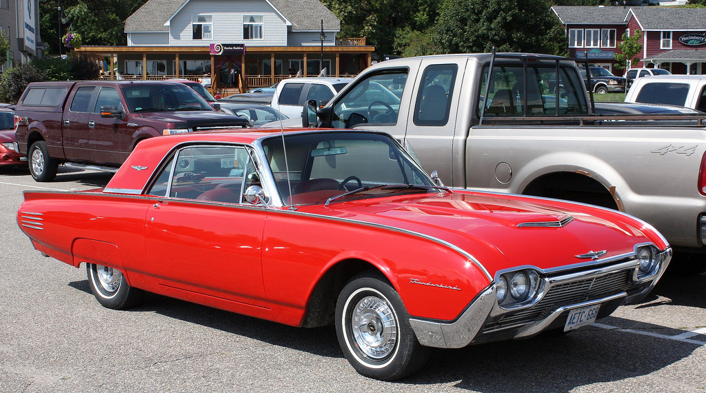 1961, ford, thunderbird, coupe