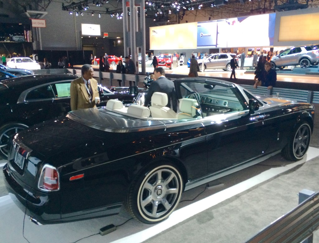 2016, ny, new york, auto show, rolls royce, phantom, whitewalls