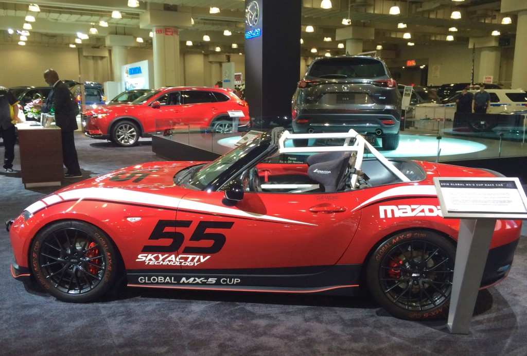 2016, ny, new york, auto show, mazda, miata, global, mx-5, cup, racer