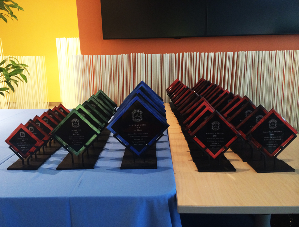Popular Vote trophies given out at the awards ceremony.
