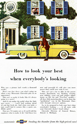 small 1955 Chevrolet Bel Air ad