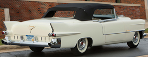 Above, a 1955 Cadillac Eldorado convertible which 1956 El Moroccos were styled after.