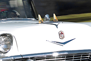 1956 El Moroccos were equipped with miniature fins on the hood.