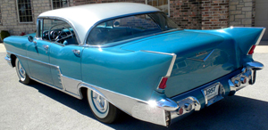 small 1957 El Morocco hardtop sedan left rear view