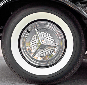 El Morocco wheel covers were sourced from the J.C. Whitney catalog (1957 shown).