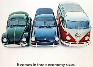 small 1960s Volkswagens