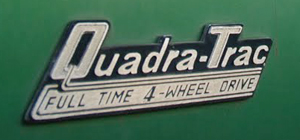small 1973 Jeep QuadraTrac badge