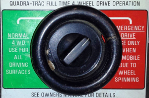 small 1973 Jeep QuadraTrac switch