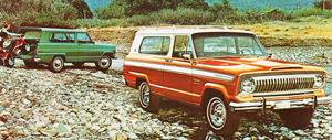 "1974 Jeep Cherokee base and ""S"" Sport models"