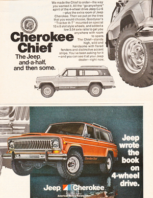 1976 jeep cherokee chief ad