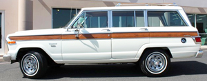 Jeep Wagoneer Custom models looked like this through 1982.  Wheels on Custom and Brougham models (shown here) were borrowed from the CJ-7.