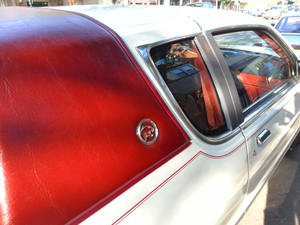 small 1986 Mercury Cougar vinyl roof