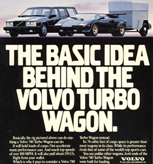 small 1990 Volvo Turbo wagon ad