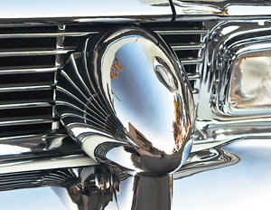 Dagmars on 1956 El Moroccos were actually inverted headlight bezels from 1937 Dodges.