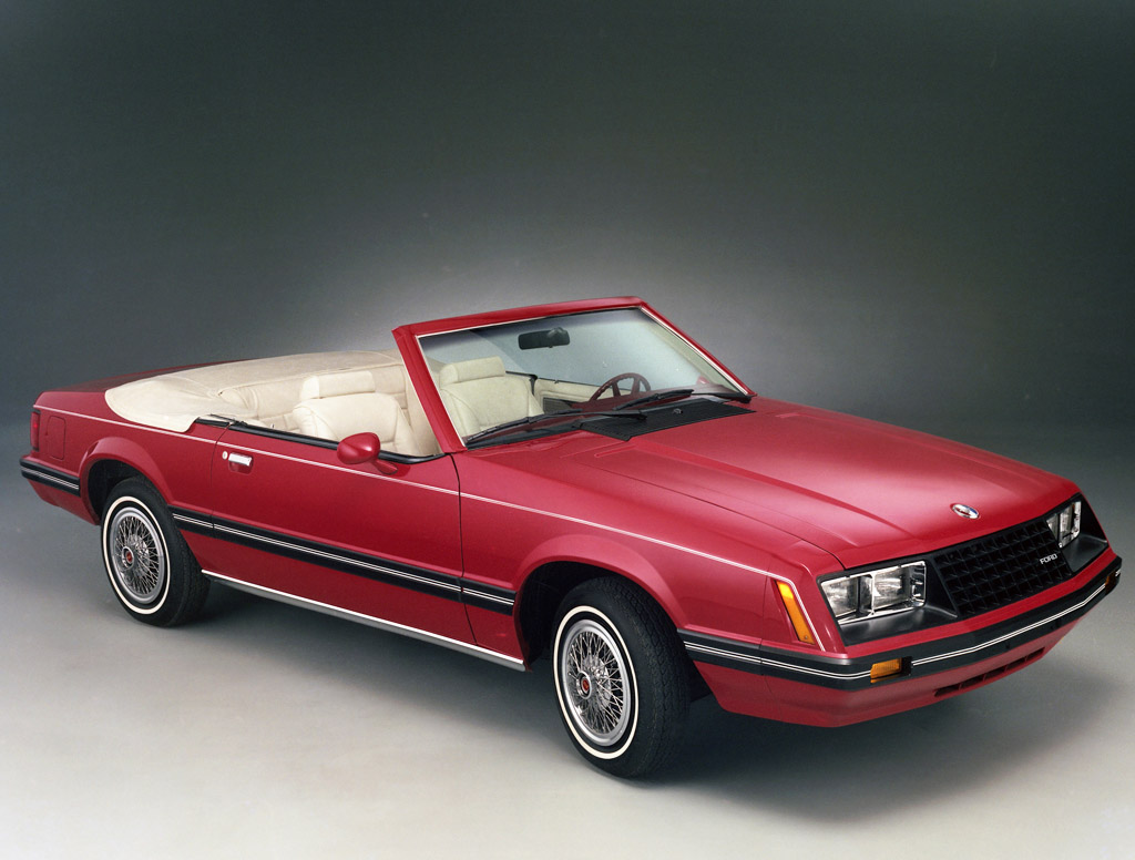 1983 Ford Mustang Convertible Prototype With 1982 Style Wire Wheel Covers