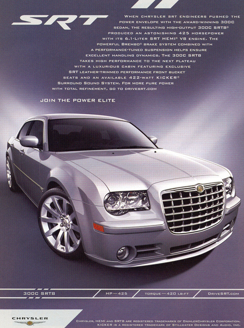All About Cars >> 2007 Chrysler 300 SRT8 advertisement | CLASSIC CARS TODAY