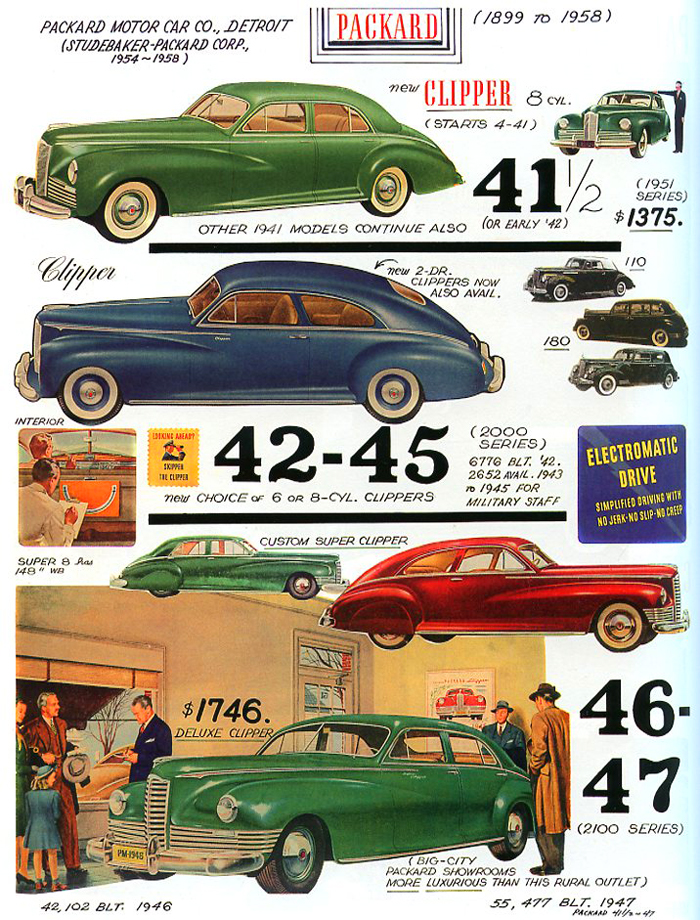 1941 1947 packard page american car spotter s bible 1940 80 Cars From 1943 1941 1947 packard page american car spotter s bible 1940 80