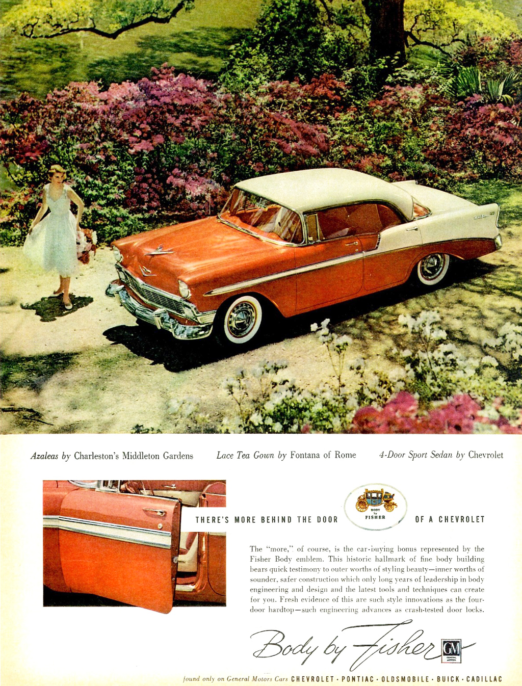 Bel Air Car >> 1956 Chevrolet Bel Air body by Fisher ad | CLASSIC CARS ...