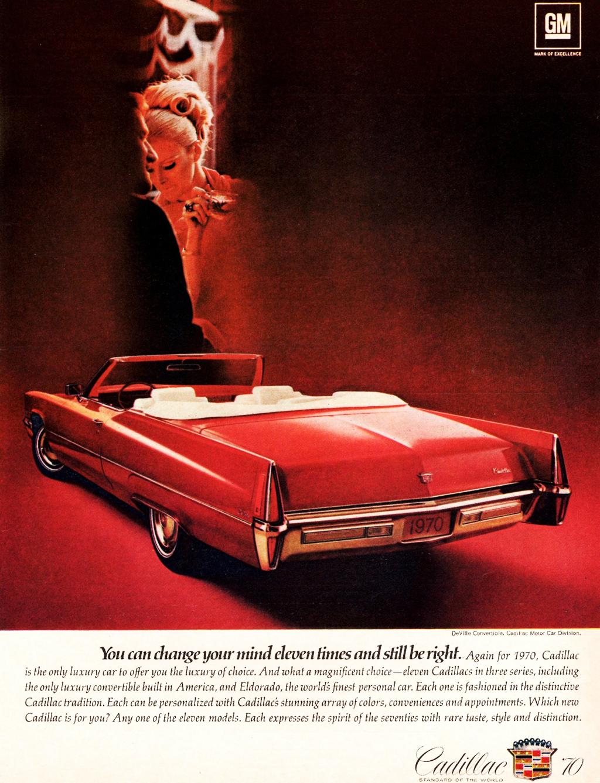 1970 Cadillac Coupe de Ville convertible ad | CLASSIC CARS