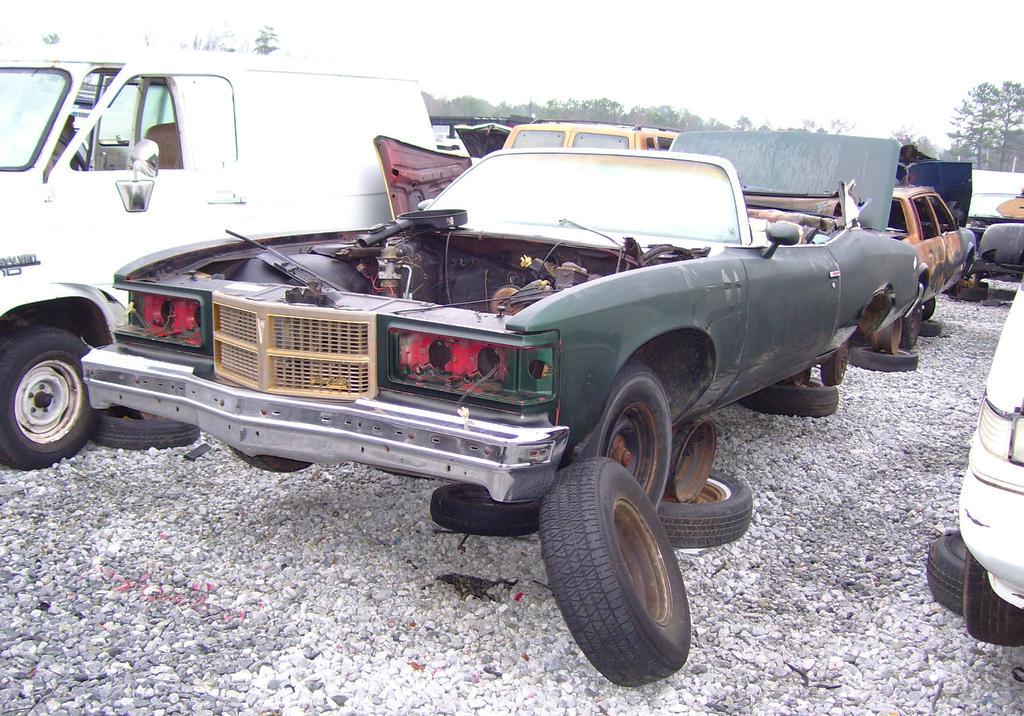 1975 Pontiac Grand Ville convertible in junk yard | CLASSIC
