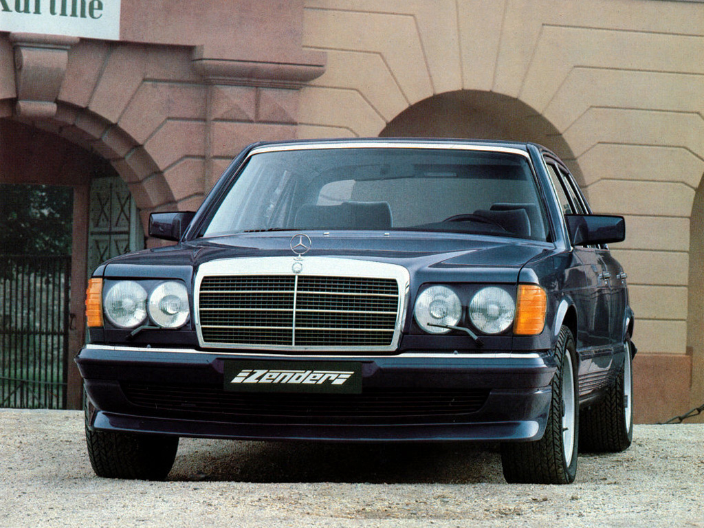 1983 Mercedes 500sel With Aftermarket Round Headlights