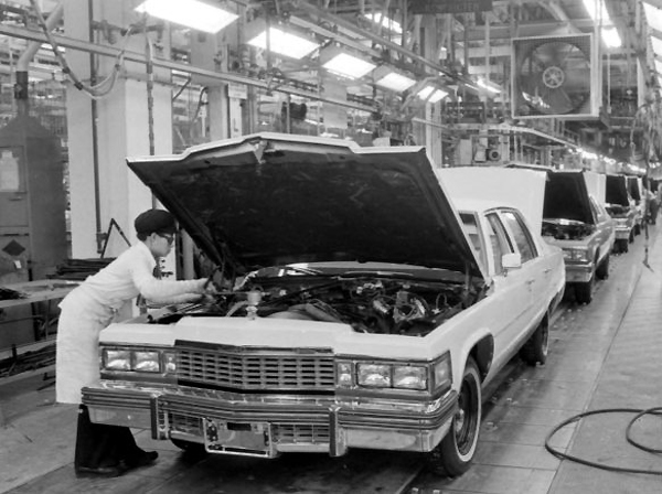 1977 Cadillac Sedan de Ville on assembly line | CLASSIC ...
