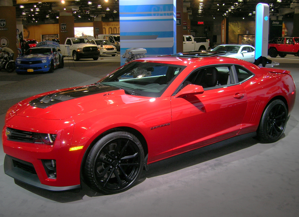 2013 Chevrolet Camaro ZL1 coupe at the 2013 New York Auto Show ...