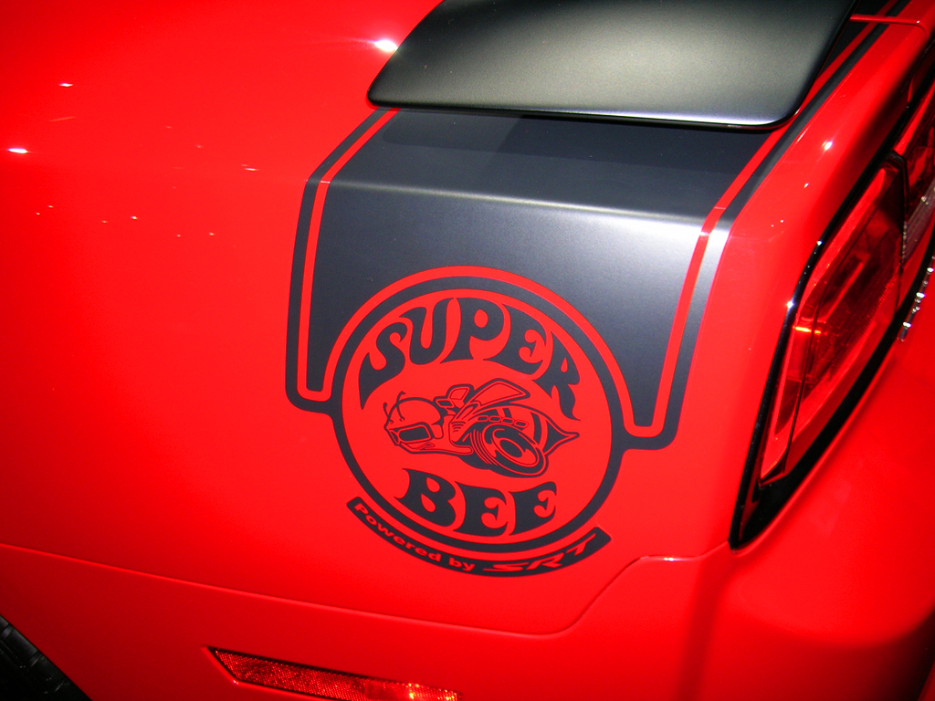 2013 Dodge Charger SRT8 Super Bee logo at the 2013 New York
