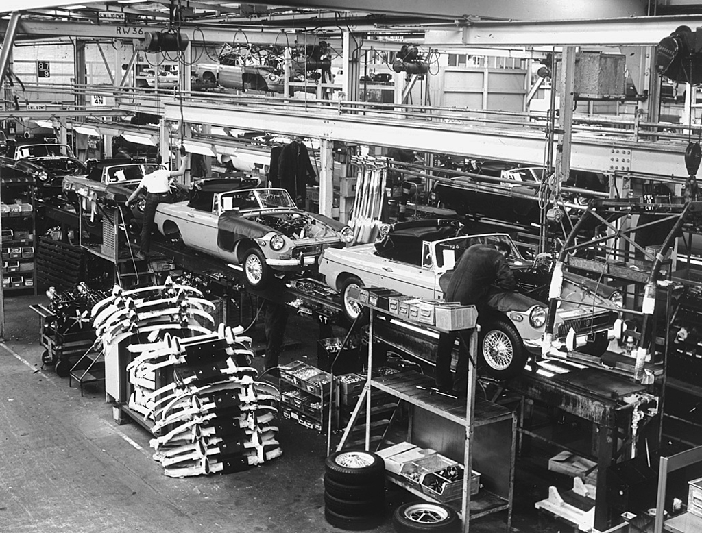 Mgb Assembly Line Late 1960s Or Early 1970s Classic
