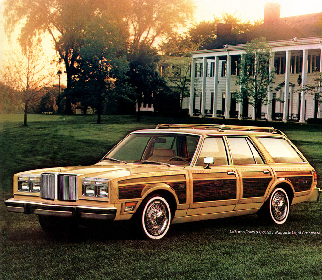 Chrysler Lebaron Town & Country with factory wire wheel covers