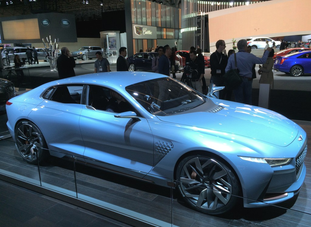 Hyundais Genesis Brand New York Concept Car At The 2016 New York